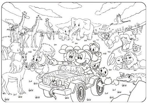 ディズニー 塗り絵 無料 印刷(ダウンロード)一覧 2015年3月追加多数