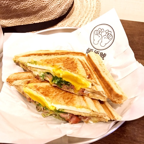 臺北駅の近く美味しいホットサンド   臺灣 女子旅&ママLIFE