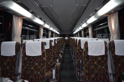 Jバス新車 日野セレガ ハイデッカー 明るい車内照明