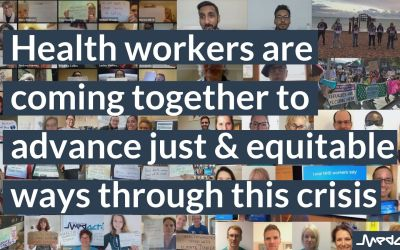 The pandemic has pulled us apart… but health workers are coming together to advance just & equitable ways through this crisis