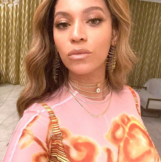 Beyoncé channels psychedelic 70's style in sheer co-ord with printed corset from Charlotte Knowles collection worth over Rs. 1 lakh