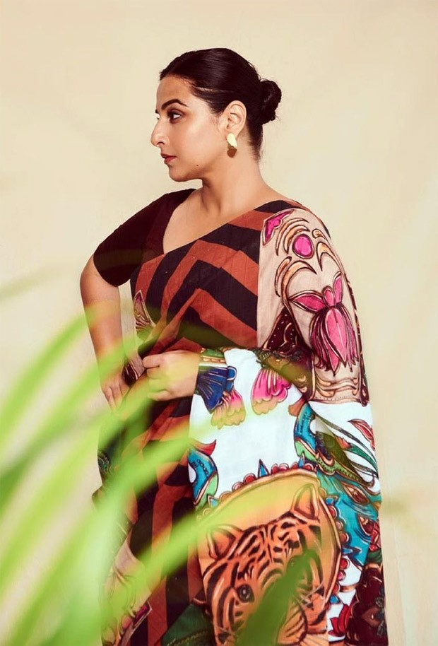 Vidya Balan exudes fierceness in 'Sherni' inspired saree