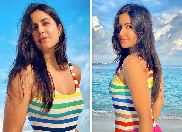 Katrina Kaif is a sight to behold in a rainbow swimsuitin Maldives