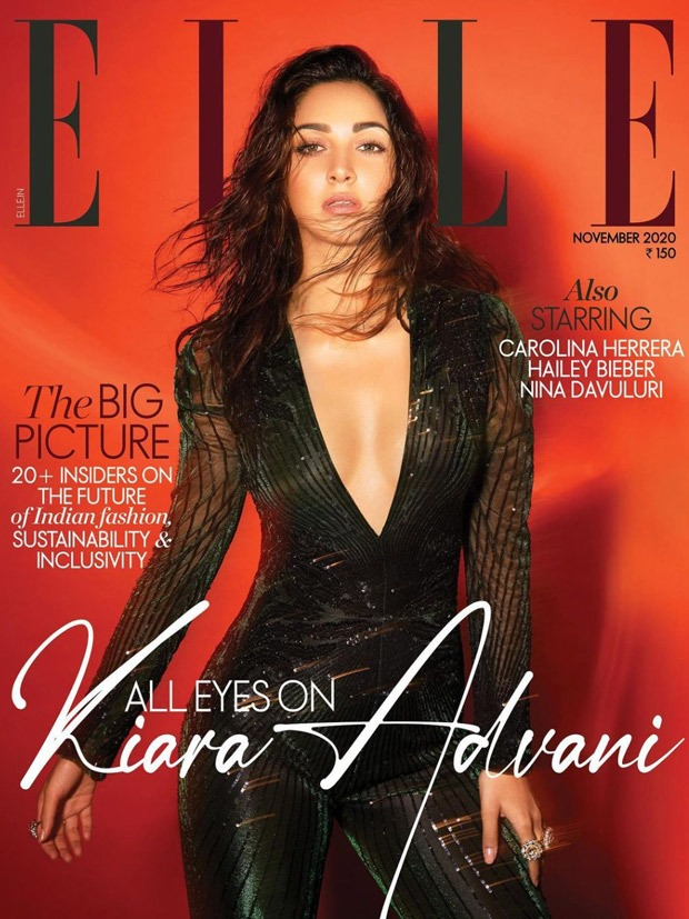 Kiara Advani looks bewitching in plunging neckline sequin jumpsuit as she raises the glam quotient on the cover of Elle India