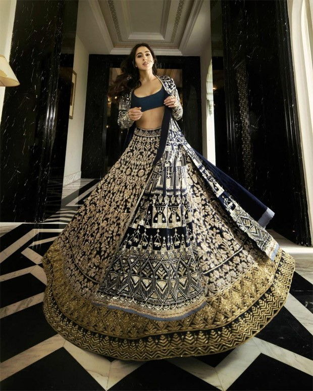 Sara Ali Khan is paradisal dream engulfed in blue and silver heavily embroidered lehenga from Manish Malhotra's Nooraniyat collection : Bollywood News Moviesflix - MoviesFlix | Movies Flix - moviesflixpro.org, moviesflix , moviesflix pro, movies flix