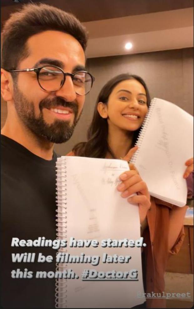 Ayushman Hurana and Rakul Preet Singh begin reading sessions for Dr. G.