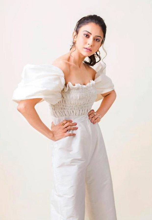 Rakul Preet Singh sets the summer vibe in white off-shoulder jumpsuit