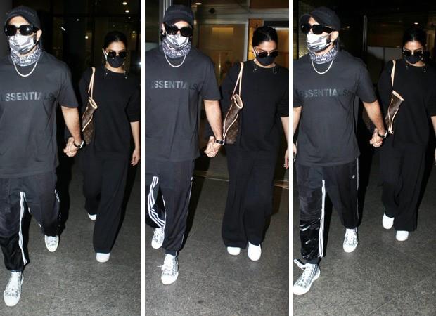Ranveer Singh and Deepika Padukone twin as they return to Mumbai; their airport looks drips of moolah and luxury