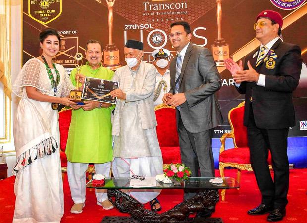 Debina Banerjee received the Social Media Influencer Award at the 27th Soul Lions Gold Awards 2021