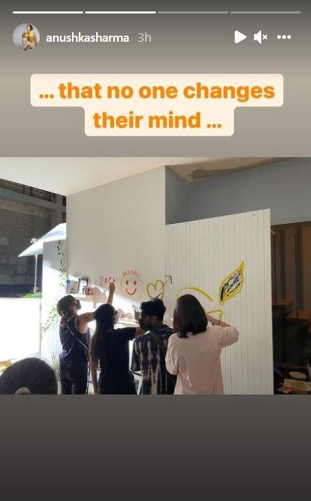 Anushka Sharma and team paints wall post wrap up, ensures 'no one changes their mind'