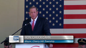 Cherry Hill Mayor Chuck Cahn welcomes residents to the Memorial Day Observance.