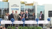 Ribbon cutting at Saint-Gobain office dedication