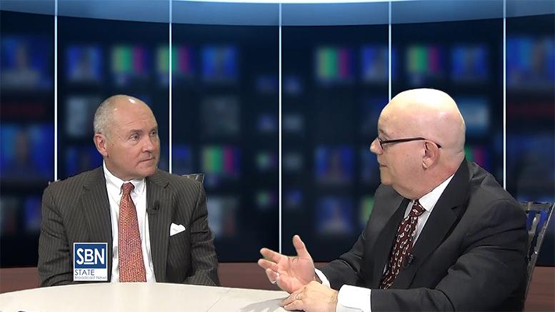 George Sowa, CEO of Greater Trenton economic development organization, with SBN news director Steve Lubetkin