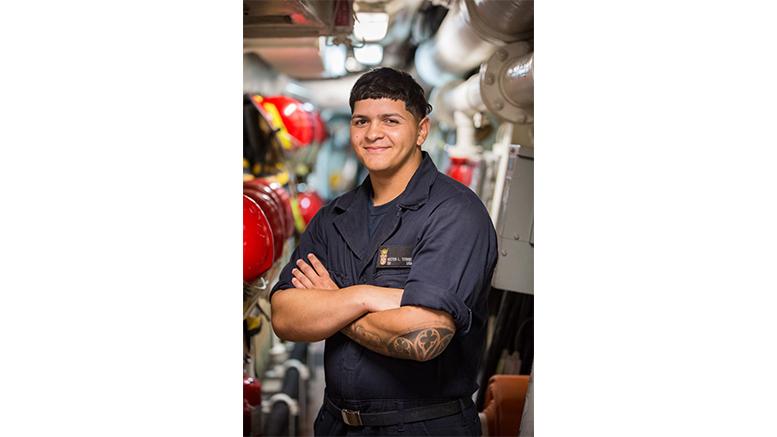 Seaman Hector Torres of Camden, NJ
