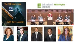 On the October 18, 2019 edition of The CRE News Hour, a ULI Philadelphia panel features (from left): Susan Bass Levin, moderator; Voorhees NJ Mayor Michael Mignogna; Chris Ressa, Executive Vice President & COO, DLC Management Corp.; Paul Medany, Mayor of Deptford Township, NJ; and Kelly Andress, founder and president, Sage Life