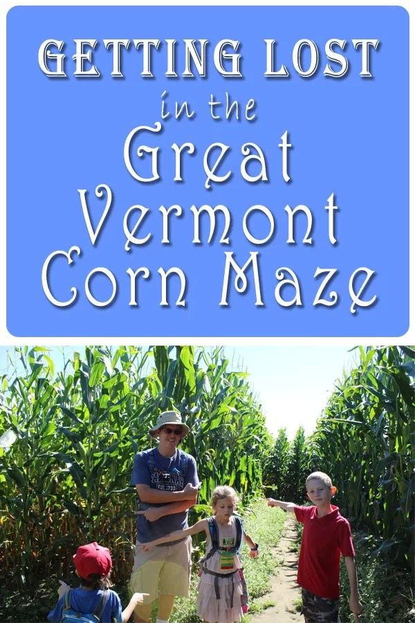 Pin for sharing the Great Vermont Corn Maze article