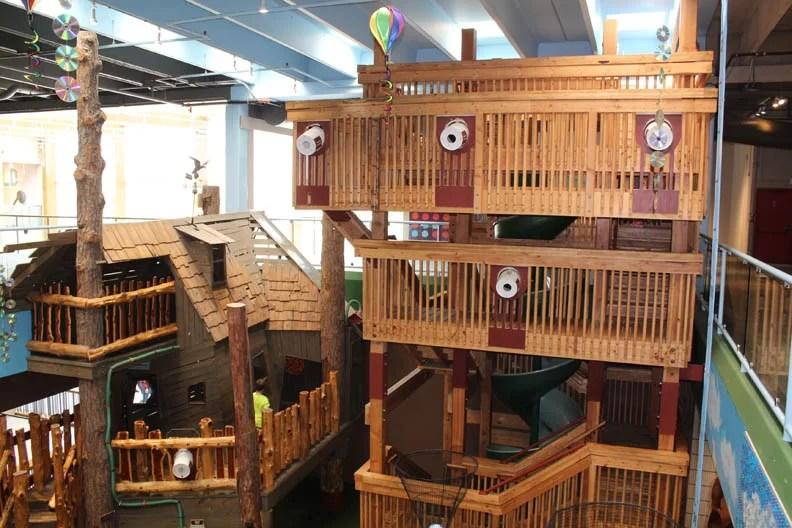 huge wooden play structure