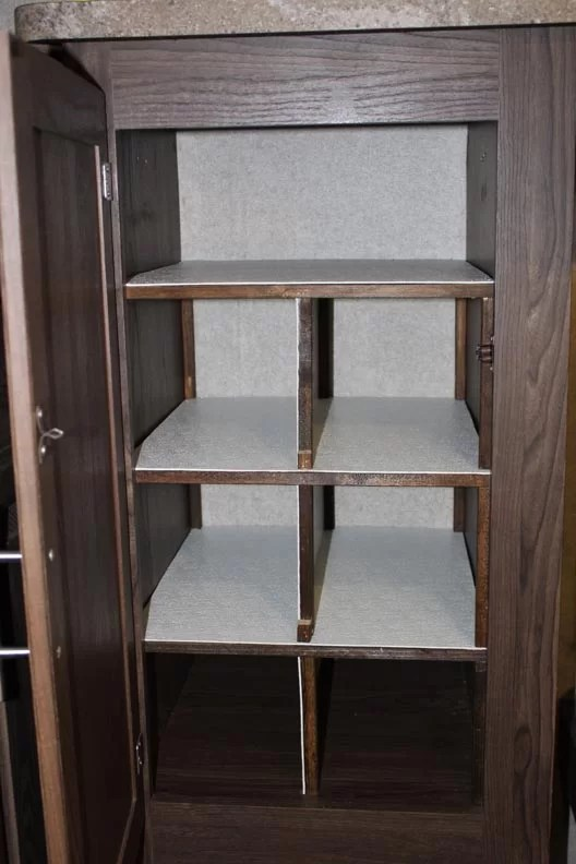 Three shelves added to closet space