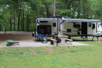 A great campsite with Trailer