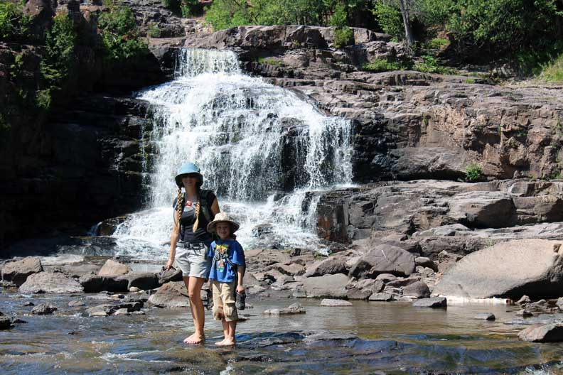 The waterfalls at Gooseberry Falls are amazing!