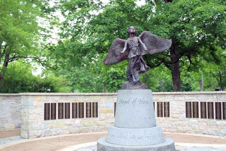 An angel statue.