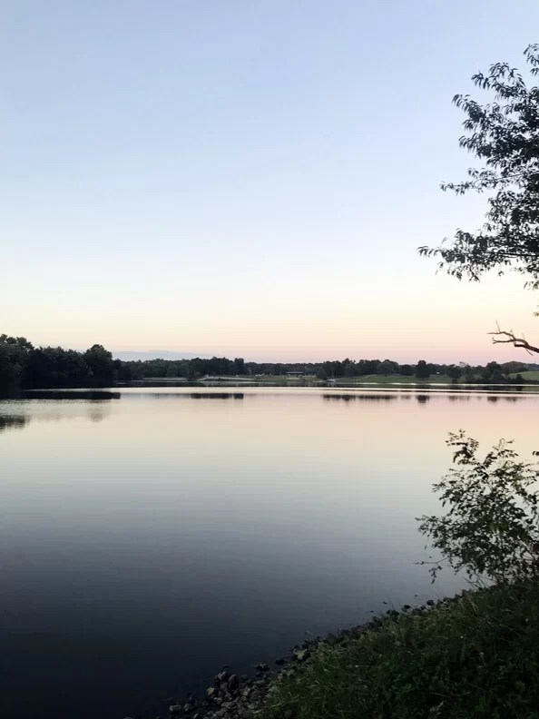 View of a lake in a county in Northern Kentucky