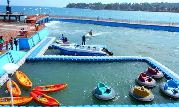 water sports andman