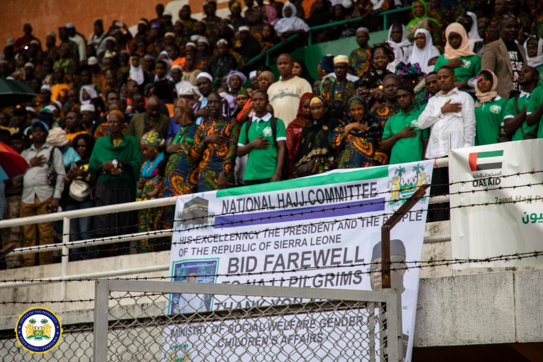 President Julius Maada Bio Bids Farewell to Hajj Pilgrims