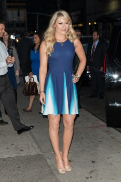 Celebrities outside The Ed Sullivan Theater for the taping on the Late Show With David Letterman Featuring: Lindsey Vonn Where: New York, NY, United States When: 28 Oct 2013 Credit: MediaPunch/WENN.com **Available for publication in UK, Germany, Austria, Switzerland, Italy, Australia**
