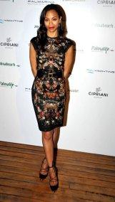 0-Zoe-Saldanas-Turkey-Palmarina-Bodrum-Opening-Alexander-McQueen-Floral-Printed-Pencil-Dress