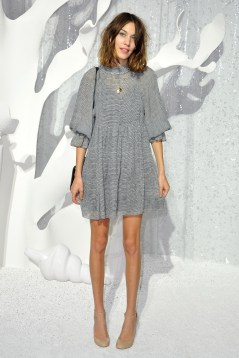 PARIS, FRANCE - OCTOBER 04: Alexa Chung attends the Chanel Ready to Wear Spring / Summer 2012 show during Paris Fashion Week at Grand Palais on October 4, 2011 in Paris, France. (Photo by Pascal Le Segretain/Getty Images)