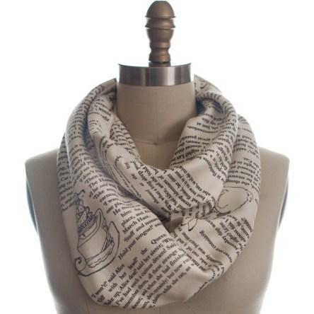 Alice In Wonderland book scarf