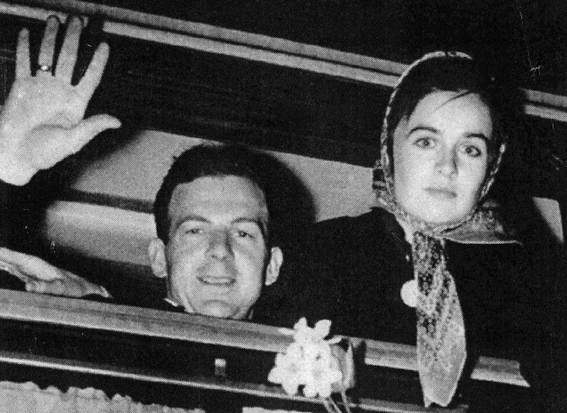 Oswald in Russia with his wife Marina