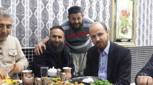 Bilal Erdogan son of President Erdogan eating with ISIS terrorists leaders