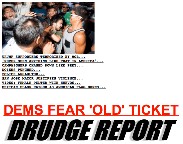 Headlines at the Drudge Report