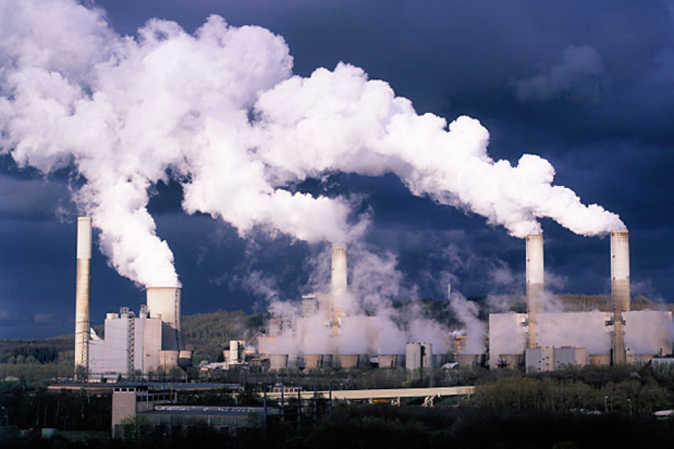 A coal burning power plant.