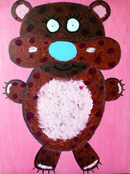 Pokey (oils on canvas 18 x 24 x .75)
