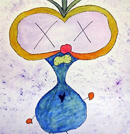 Plur (gouache on watercolor paper 9 x 12)