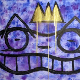 Nobility Is More Than a Crown (acrylics, spray paint on canvas 40x30)