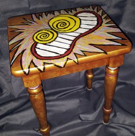 Own Your Crazy Table (acrylics on wood table)