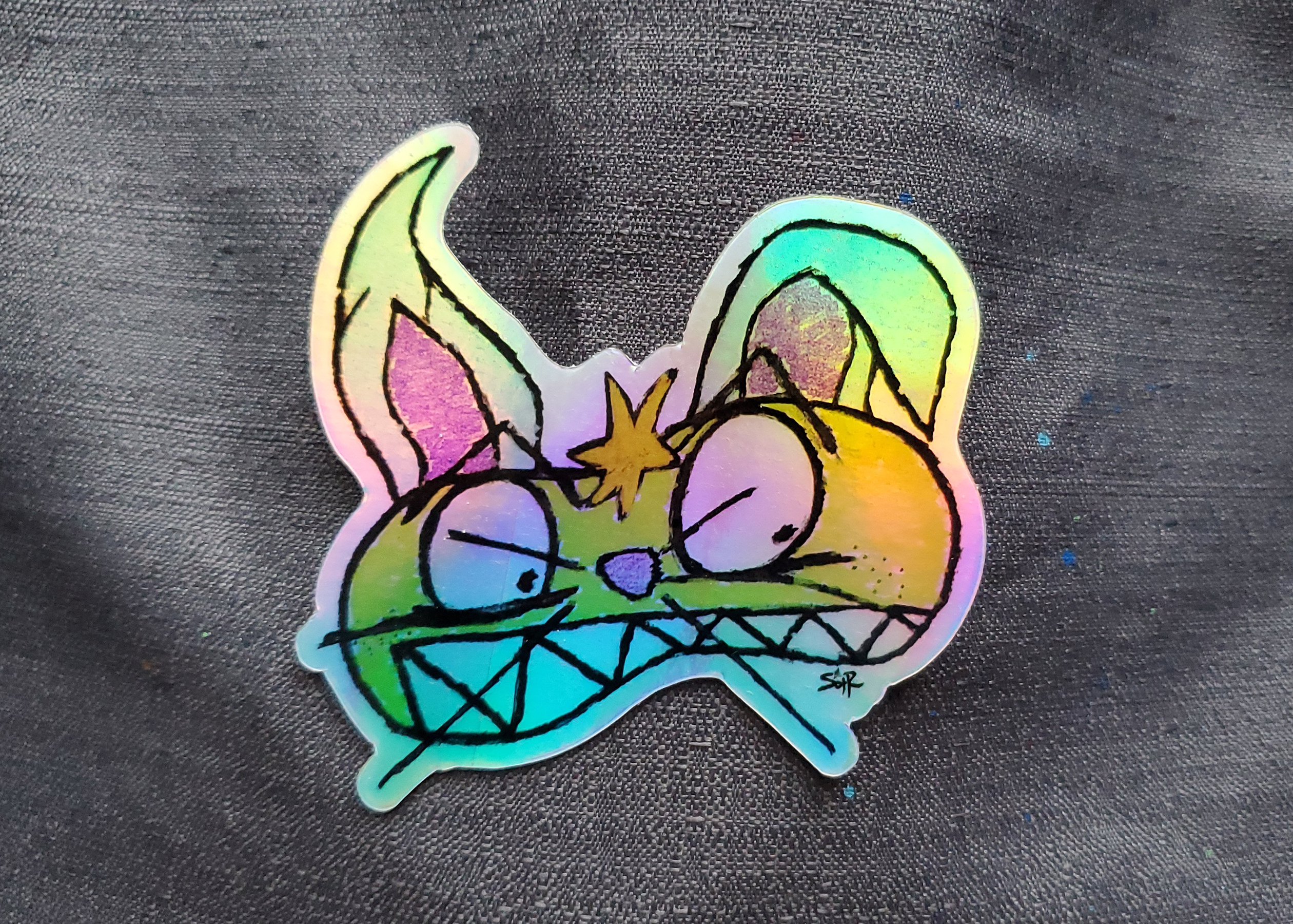 The Agony of the Sweet Holographic Sticker