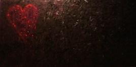 Bleeding Heart (oils on canvas 48 x 24 x .75) *Sold*