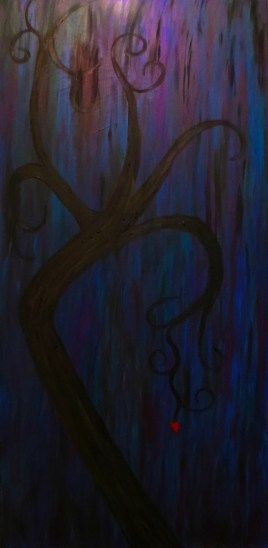 Love Blossoms (oils on canvas 24 x 48 x .75) *Sold*