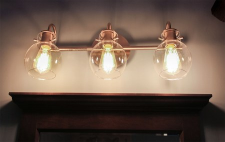 Vintage Lamp for Bathroom Interior Design