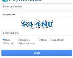 Pri Paymanager 2021: Rajasthan Salary Slip, GA 55 @ paymanager2.raj.nic.in