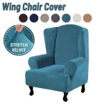Velvet Super Soft Stretch Wing Chair Slipcover Wingback Armchair Cover White Buy Online At Best Prices In Bangladesh Daraz Com Bd