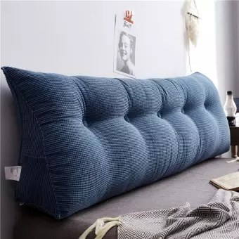bedside triangle cushion sofa cushion bed backrest soft bed headrest long pillow 4 colors 100x23x50cm