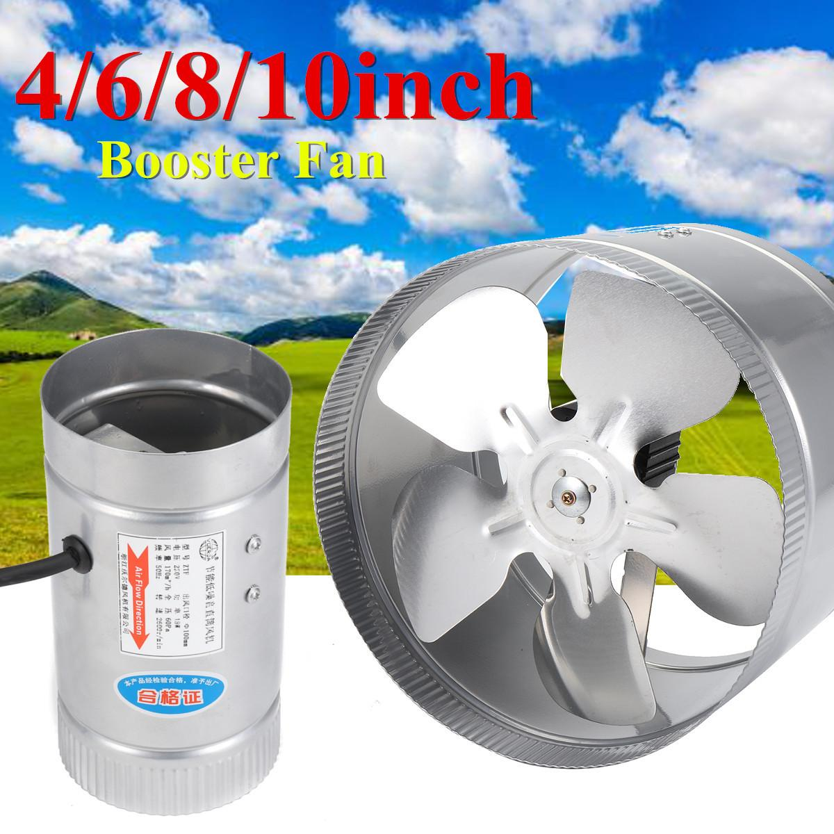 4 6 8 10 inch inline duct booster fan air exhaust ventilation blower grow vent 8 inch