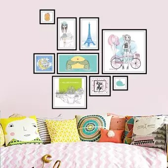 Removable Frame Wall Sticker Mural Pvc Kids Room Decor Cartoon 1 Set Decoration Buy Online At Best Prices In Pakistan Daraz Pk