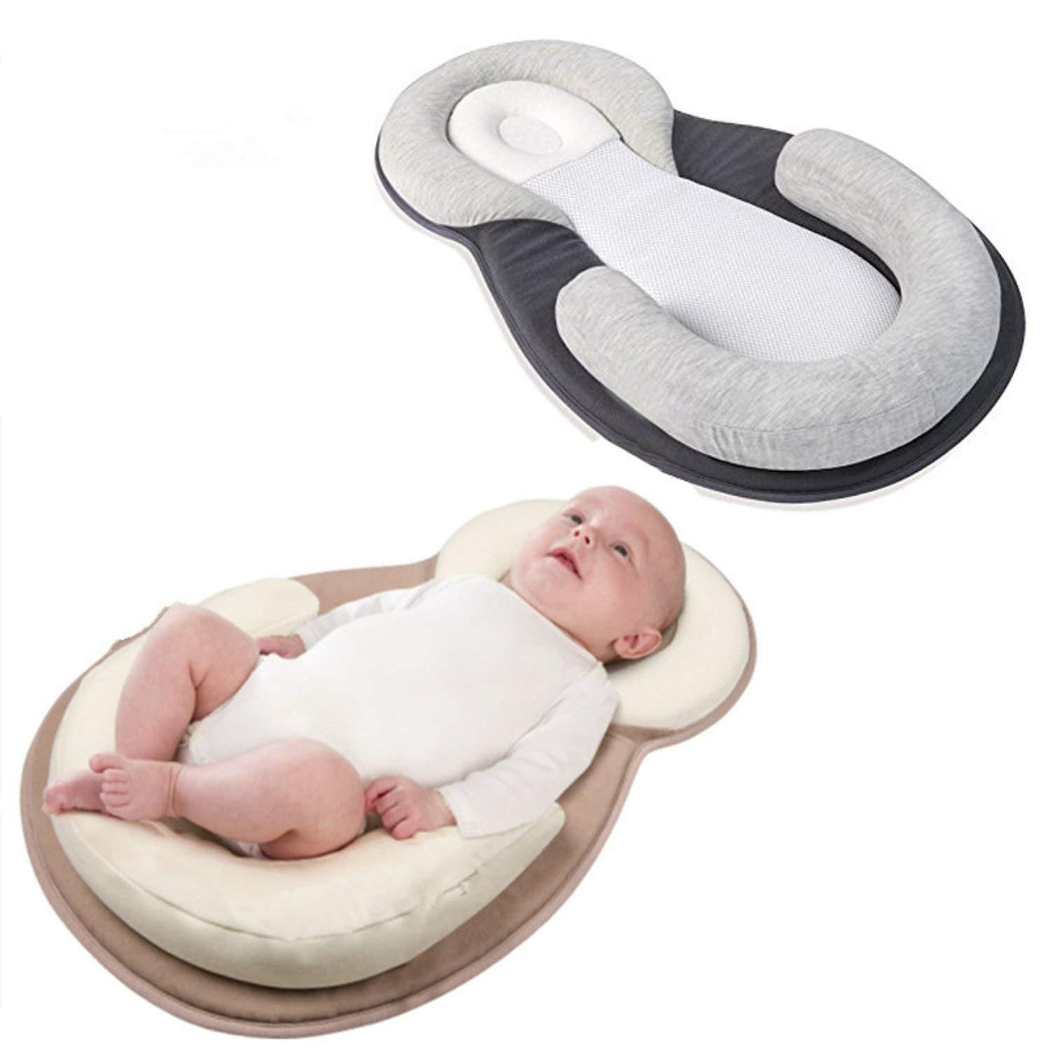 baby head shaping pillow and torticollis correction baby pillow for head shaping prevent newborn plagiocephaly syndrome perfect for baby to